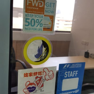 Example 2 of sticker printing services Singapore